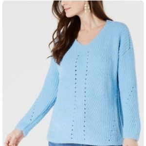 ✨NWT✨ Style & Co Cozy Chenille Sweater in blue